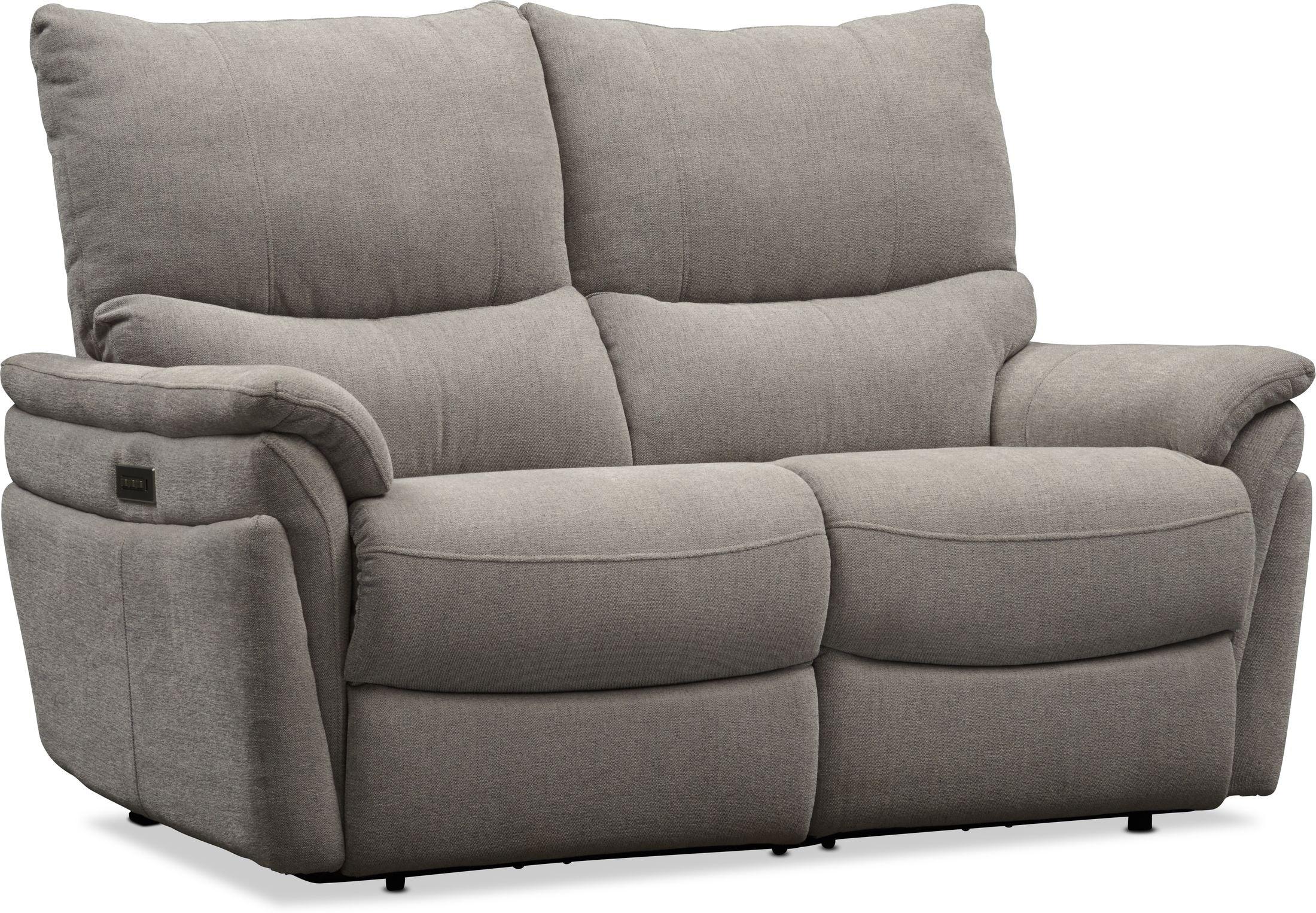 Living Room Furniture - Maddox Triple-Power Reclining Loveseat