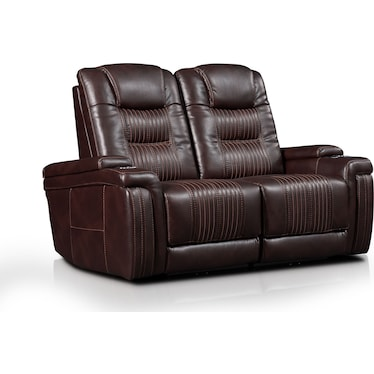 Magnus 2-Piece Triple-Power Reclining Sofa - Brown