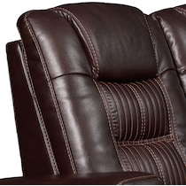 magnus dark brown  pc power reclining sofa