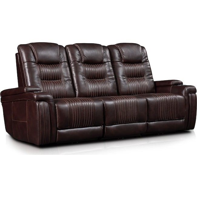 Living Room Furniture - Magnus 3-Piece Triple-Power Reclining Sofa with 3 Reclining Seats