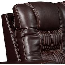 magnus dark brown  pc power reclining sofa