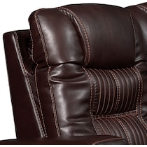 magnus dark brown  pc power reclining sectional