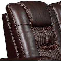 magnus dark brown  pc power reclining sectional
