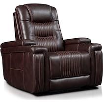 magnus dark brown power recliner