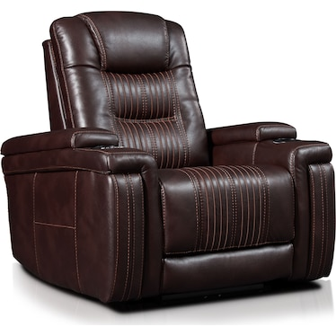 Magnus Triple-Power Recliner - Brown