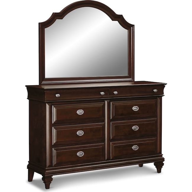 Bedroom Furniture - Manhattan Dresser and Mirror