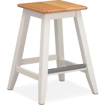 maple and white counter height stool