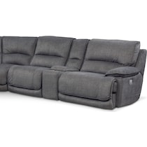mario power gray power reclining sectional