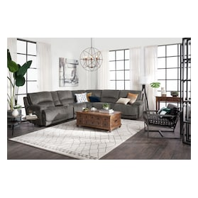 Mario 6-Piece Dual-Power Reclining Sectional with 3 Reclining Seats