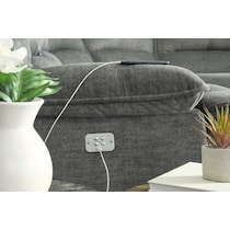 mario power gray power reclining sectional
