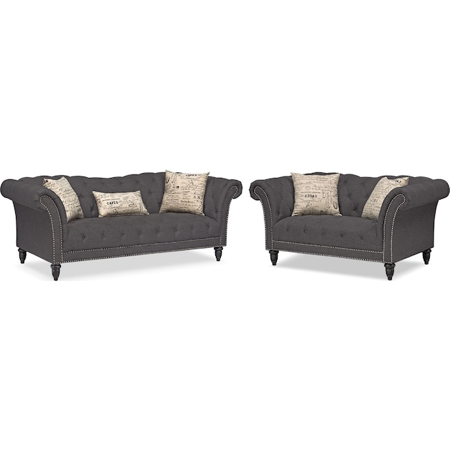 Living Room Furniture - Marisol Sofa and Loveseat Set