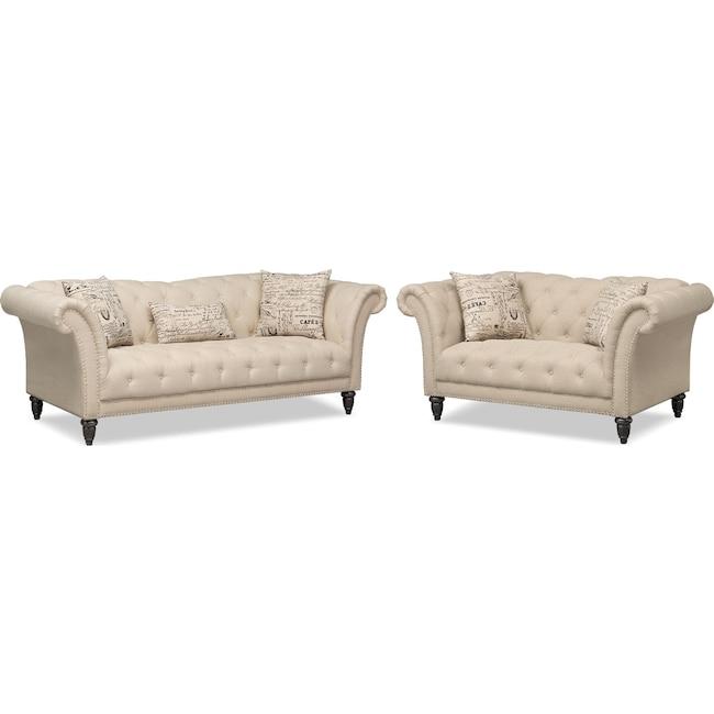 Living Room Furniture - Marisol Sofa and Loveseat Set
