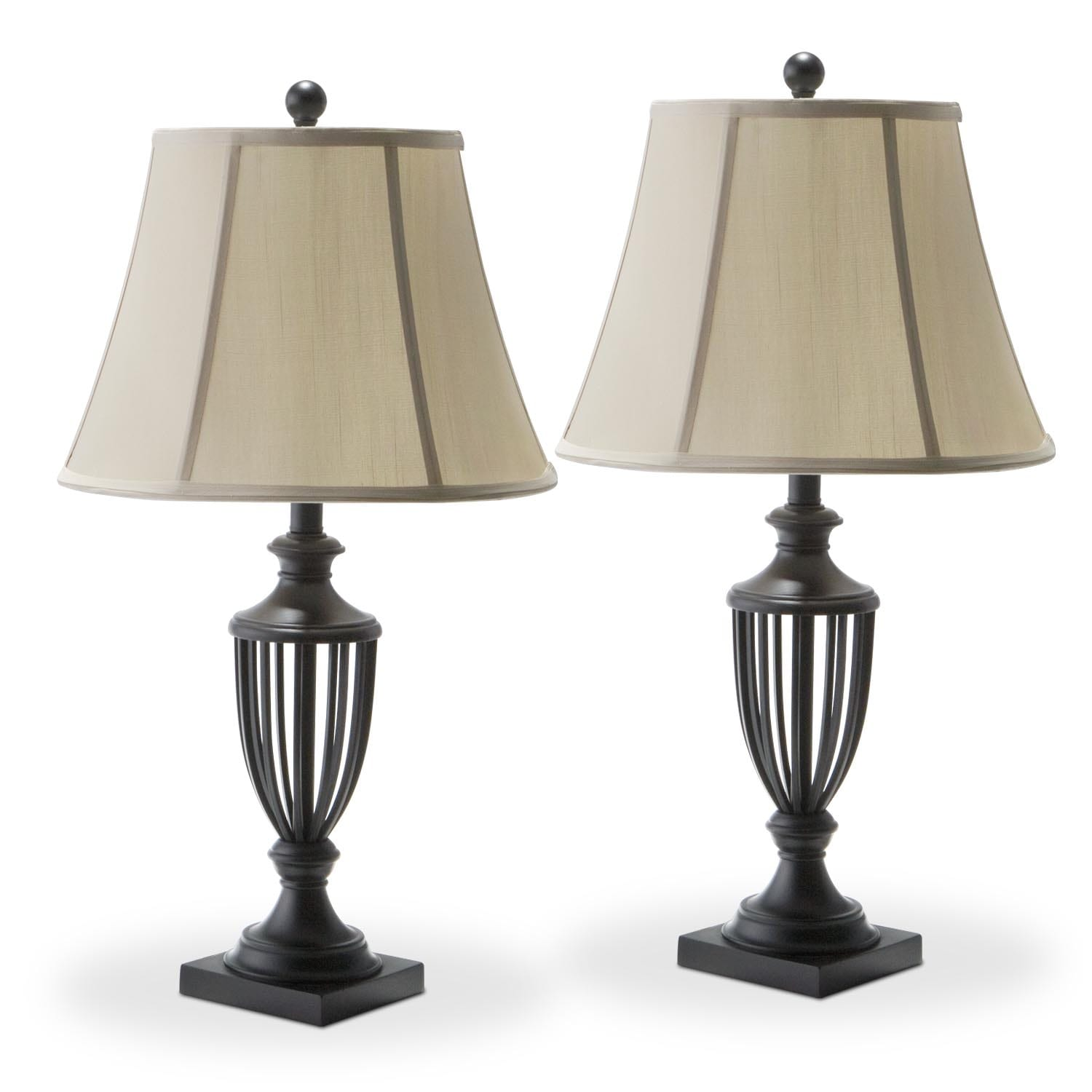 Home Accessories - Mason Set of 2 Table Lamps
