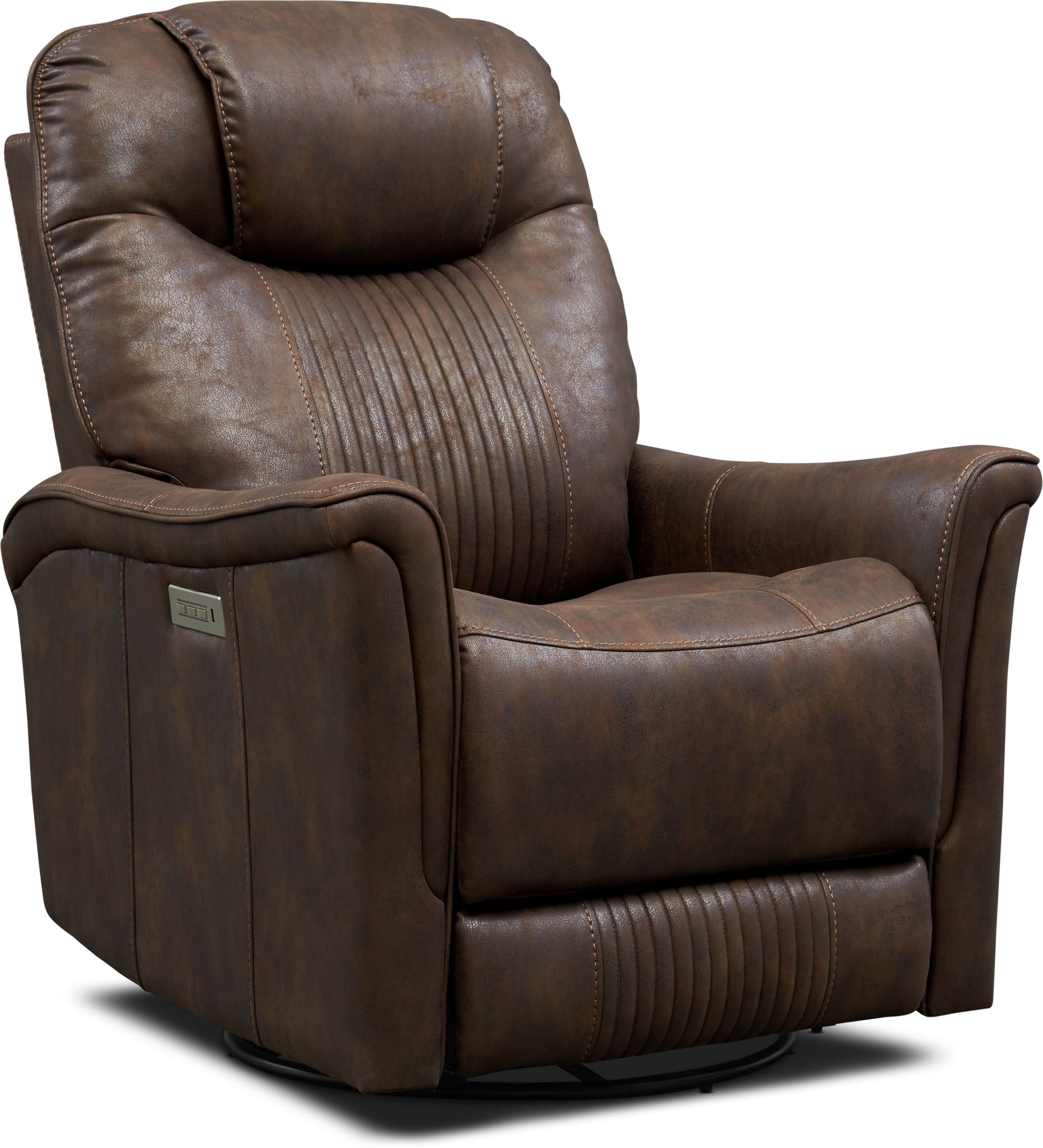 Living Room Furniture - Maverick Dual-Power Swivel Recliner