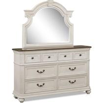 mayfair white  pc queen bedroom