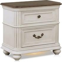 mayfair white nightstand