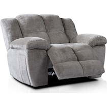 mellow gray  pc manual reclining living room