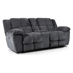 Mellow Dual-Power Reclining Loveseat - Gray
