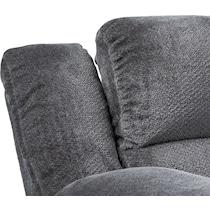 mellow gray power reclining loveseat