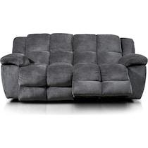 mellow gray power reclining sofa