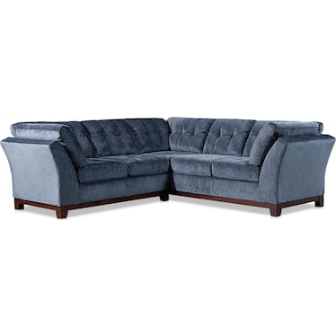 Melrose 2-Piece Small Sectional with Left-Facing Loveseat - Indigo