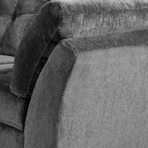 melrose gray  pc sectional