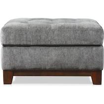 melrose gray ottoman