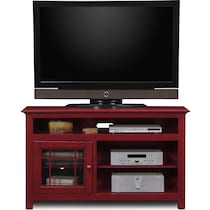 merrick red red tv stand