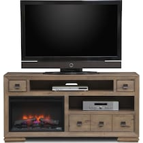 mesa gray fireplace tv stand