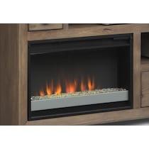 mesa gray fireplace tv stand