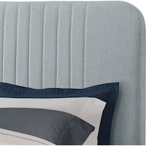 mia blue queen upholstered bed