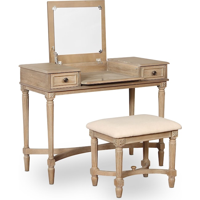 Home Office Furniture - Michelle Vanity Desk and Stool