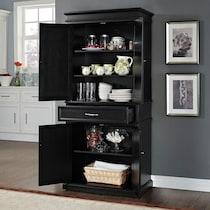 midway black kitchen pantry