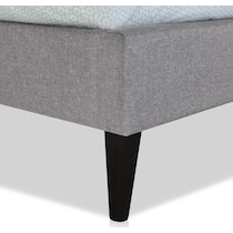 mikah gray queen upholstered bed
