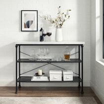 mila black console table