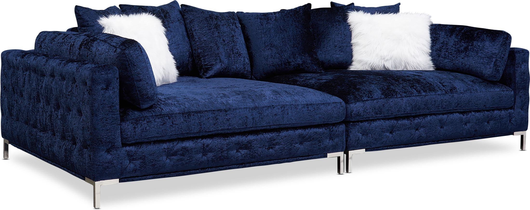 Living Room Furniture - Milan 2-Piece Sofa