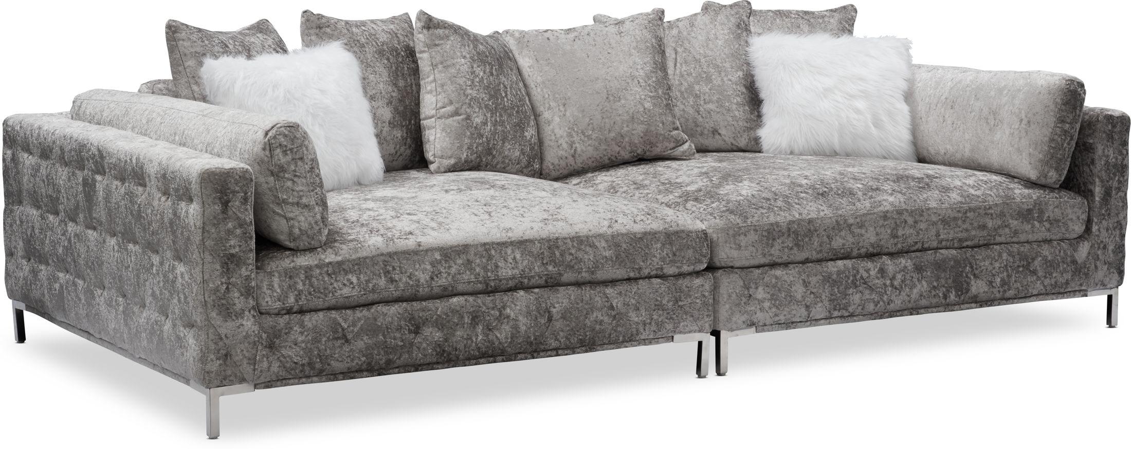 Living Room Furniture - Milan 2-Piece Sofa