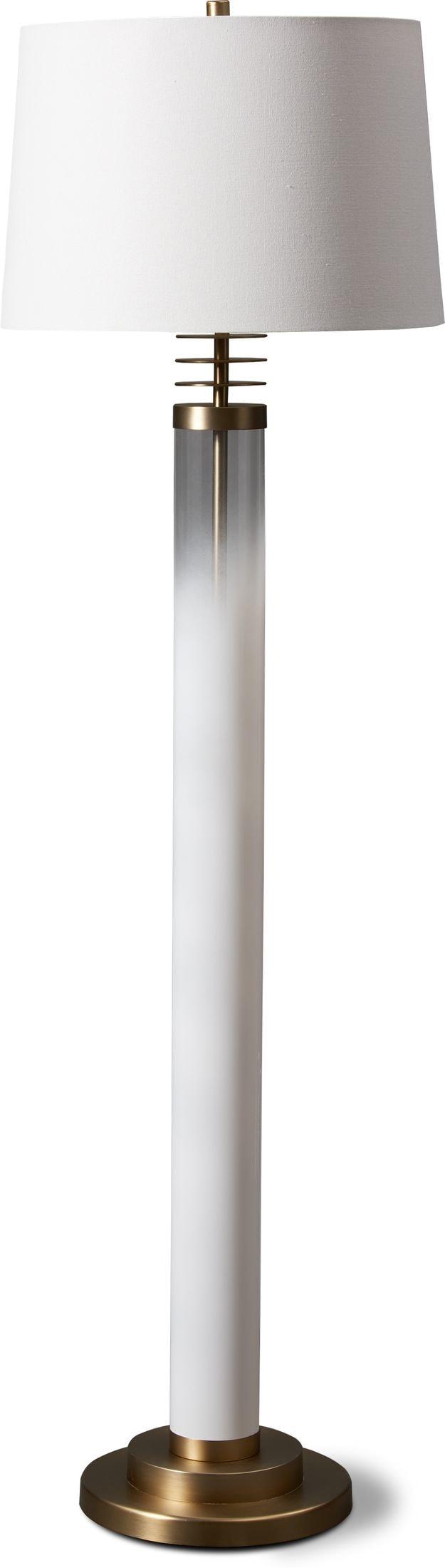 Home Accessories - Milk Glass Floor Lamp