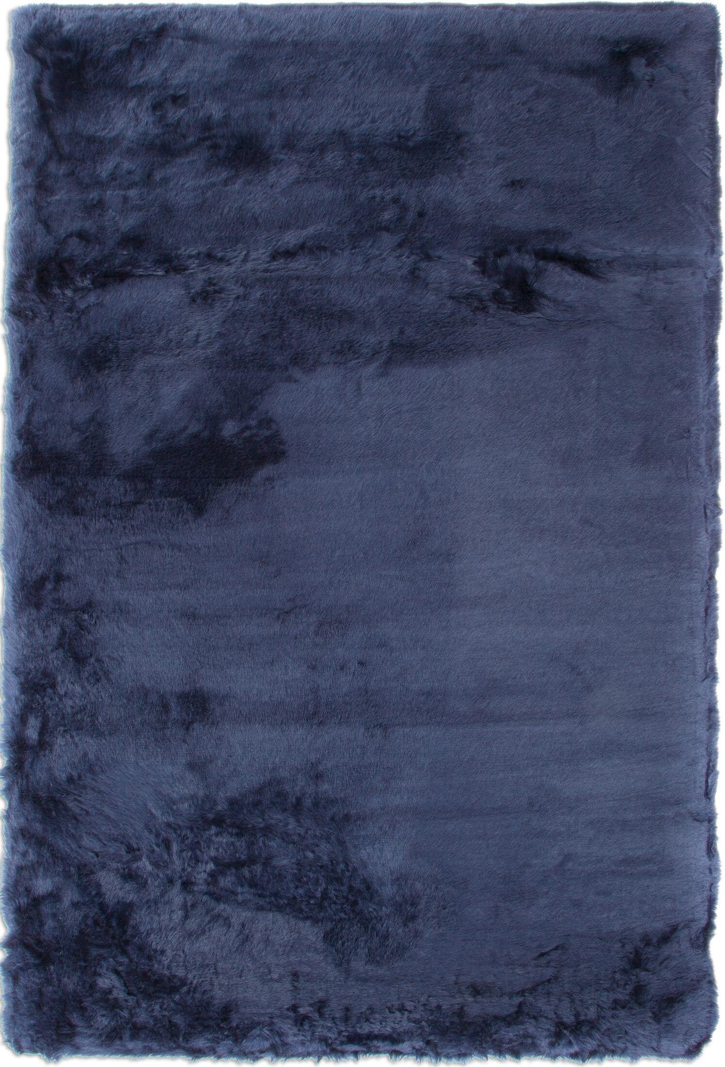 Rugs - Faux Mink Fur Area Rug - Sapphire