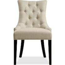 minka white dining chair