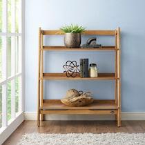 mitch light brown bookcase