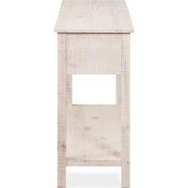 mona white console table