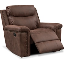 montana manual dark brown manual recliner