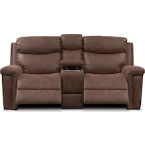 montana manual dark brown manual reclining loveseat