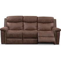 montana manual dark brown manual reclining sofa