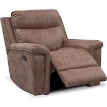 montana manual light brown manual recliner