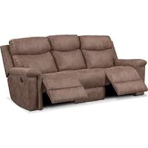 montana manual light brown manual reclining sofa