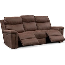 montana power dark brown power reclining sofa