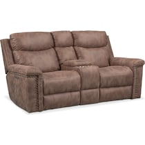 montana power light brown power reclining loveseat
