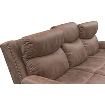 montana power light brown power reclining sofa